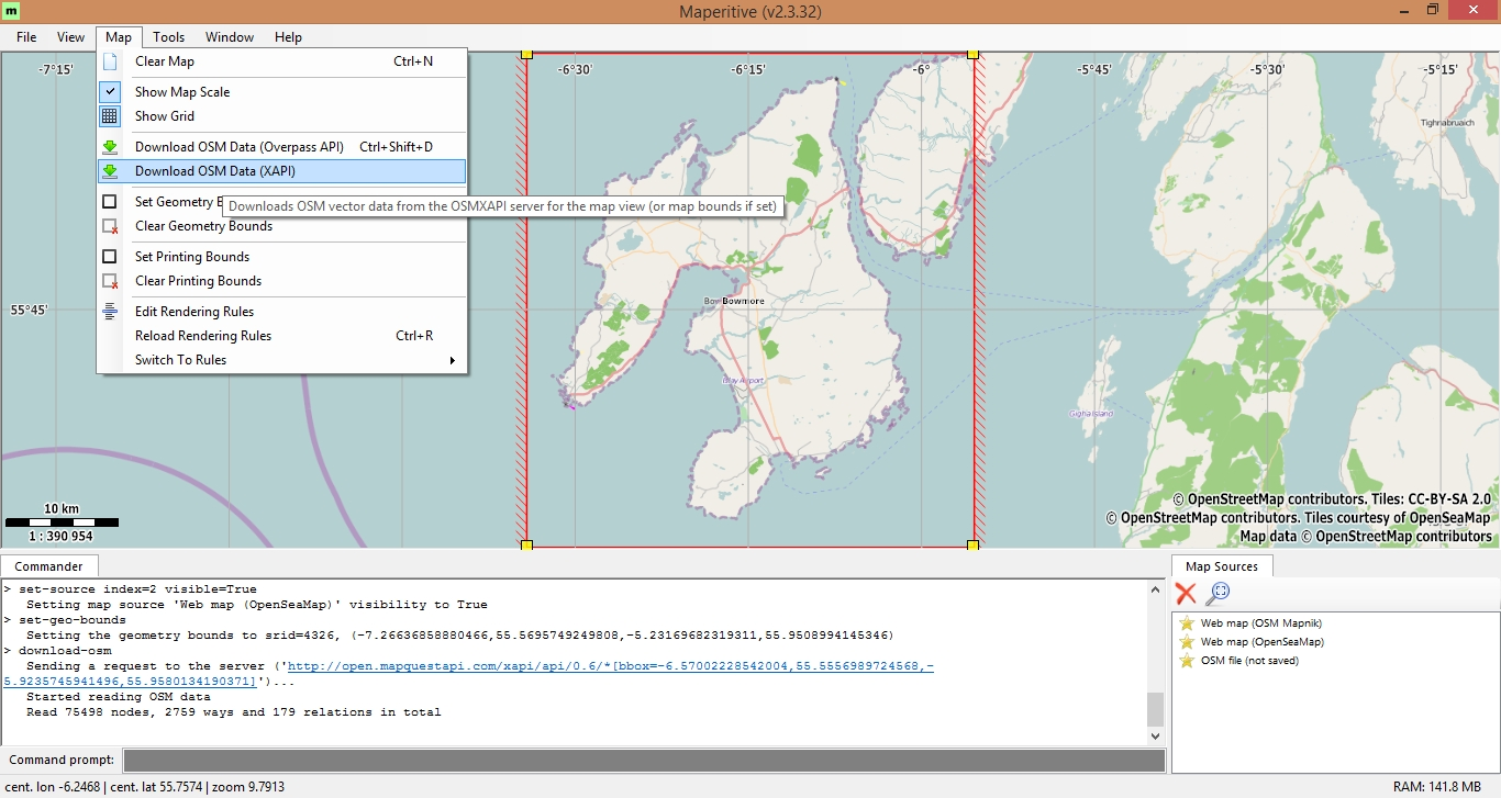 Creating OSM Offline tiles using Maperitive – osedok