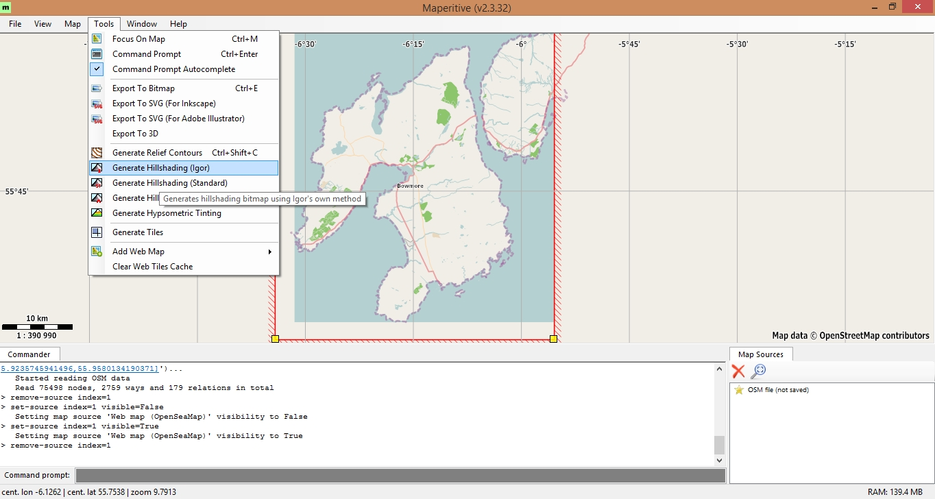 Creating offline maps using Maperitive – MapPad